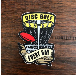 """Disc Golf Every Day"" Sticker"
